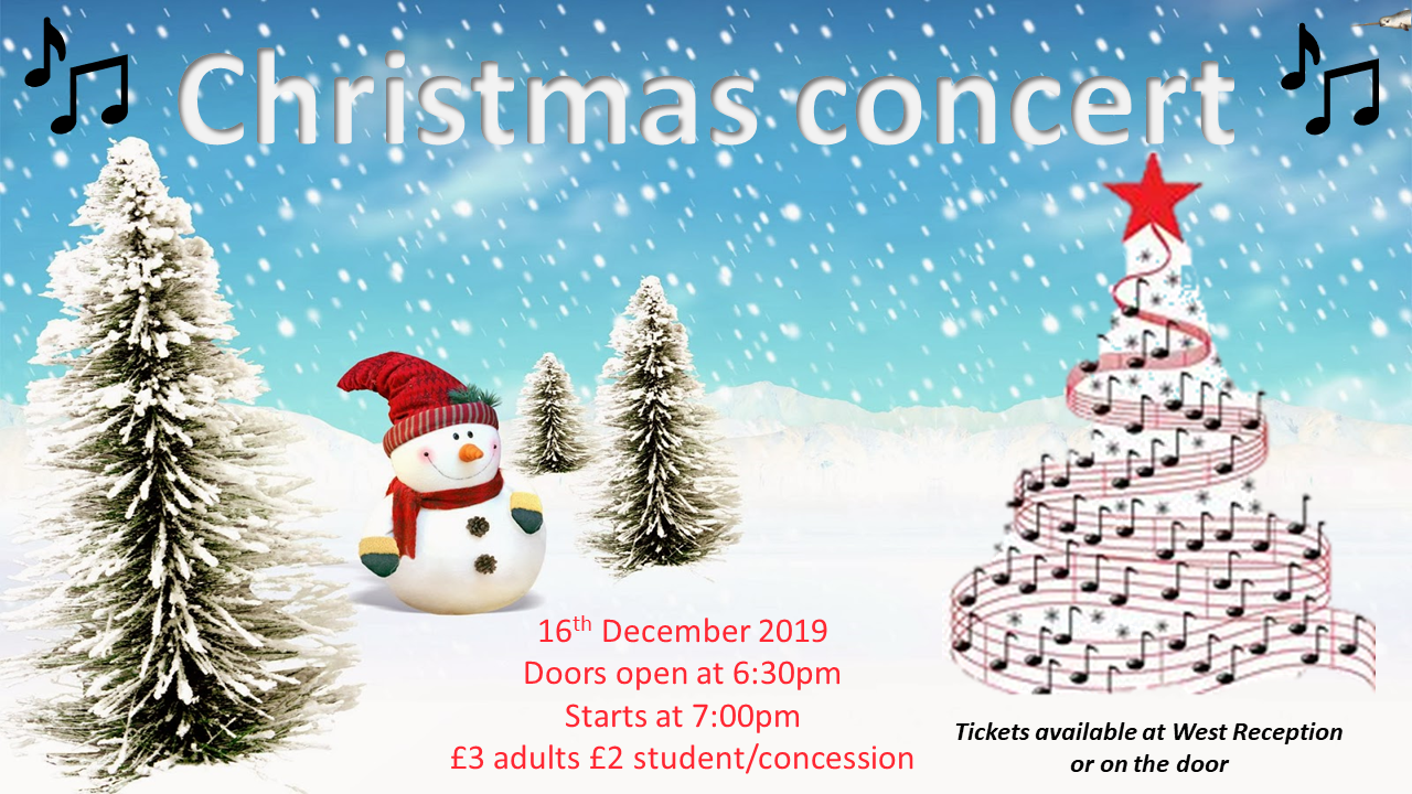 Chrismas concert poster 2019